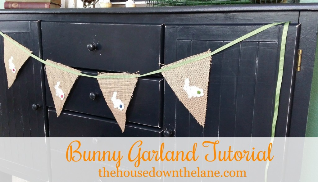 This adorable Bunny Garland is Part 2 of Tuesday 2-fer: Spring Decor. Get the tutorial at TheHouseDowntheLane.com.
