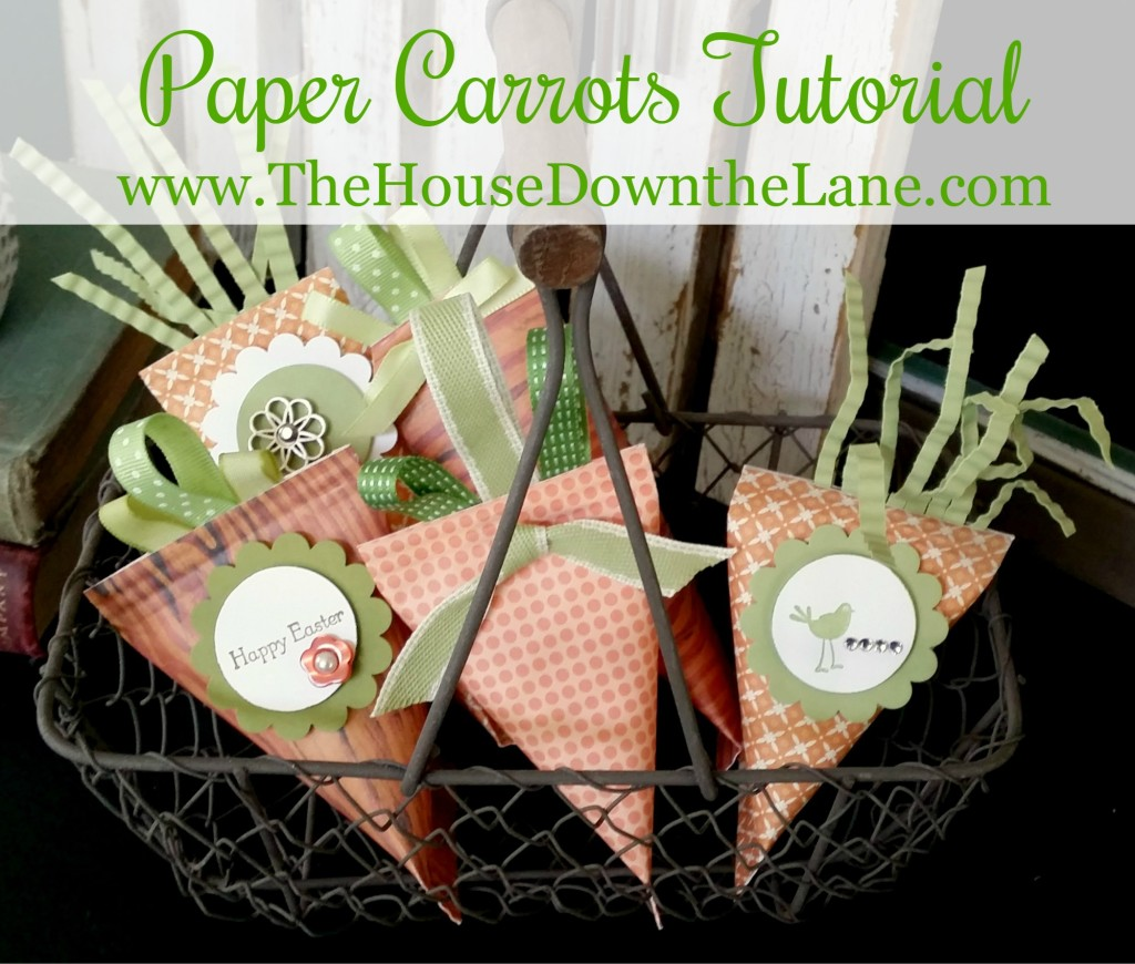 Paper Carrots Tutorial by www.TheHouseDowntheLane.com.