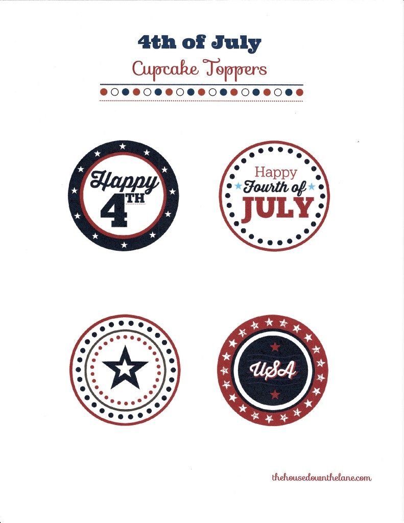 Easy DIY 4th of July Cupcake Toppers