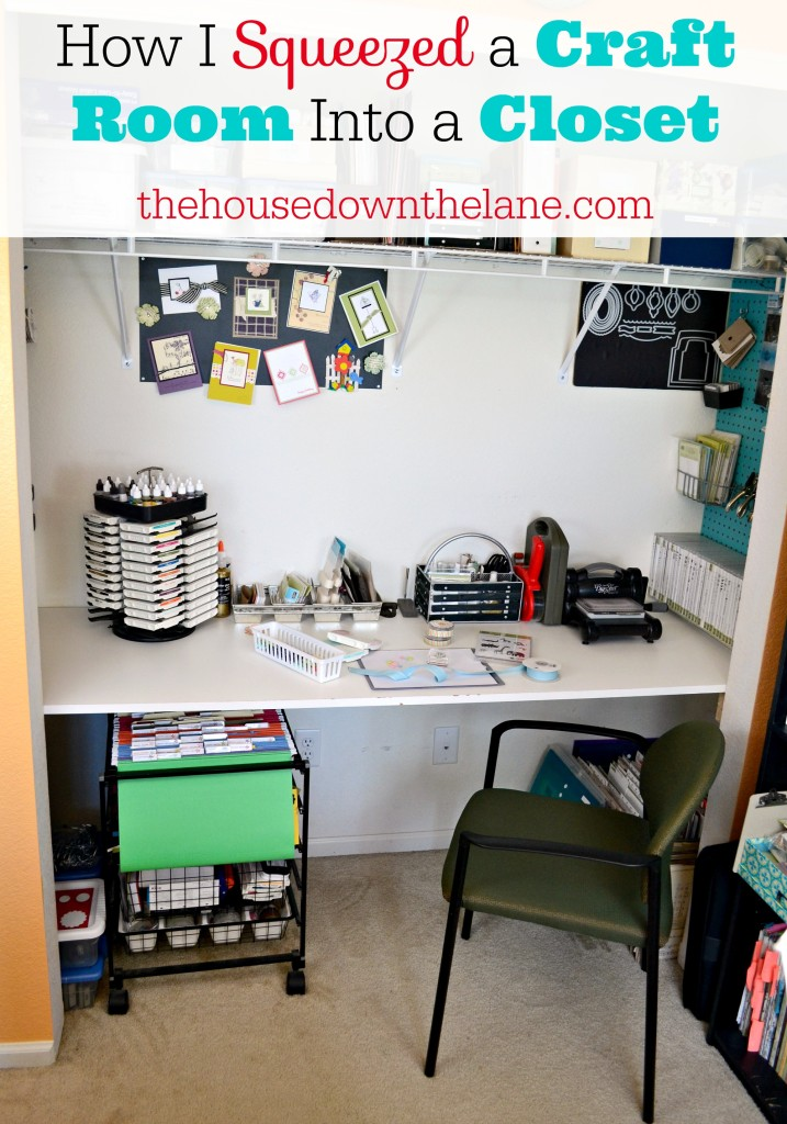 Squeezing my craft room into a closet took a few steps, some time, and a lot of work. But having a dedicated craft space with all of my supplies within reach made it totally worth it! Here's how I did it. | Calyx and Corolla