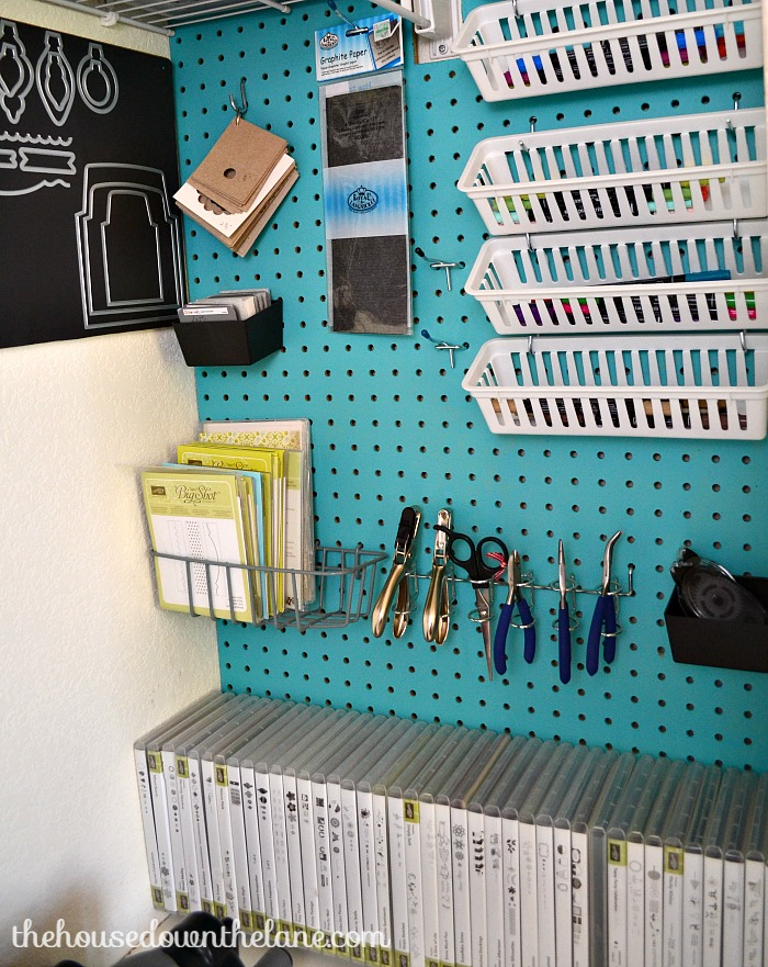 Need a dedicated place to craft and create? You don't need a room or a huge space to for a crafting area. Even a closet will do! And here's How I Squeezed a Craft Room Into a Closet! | The House Down the Lane