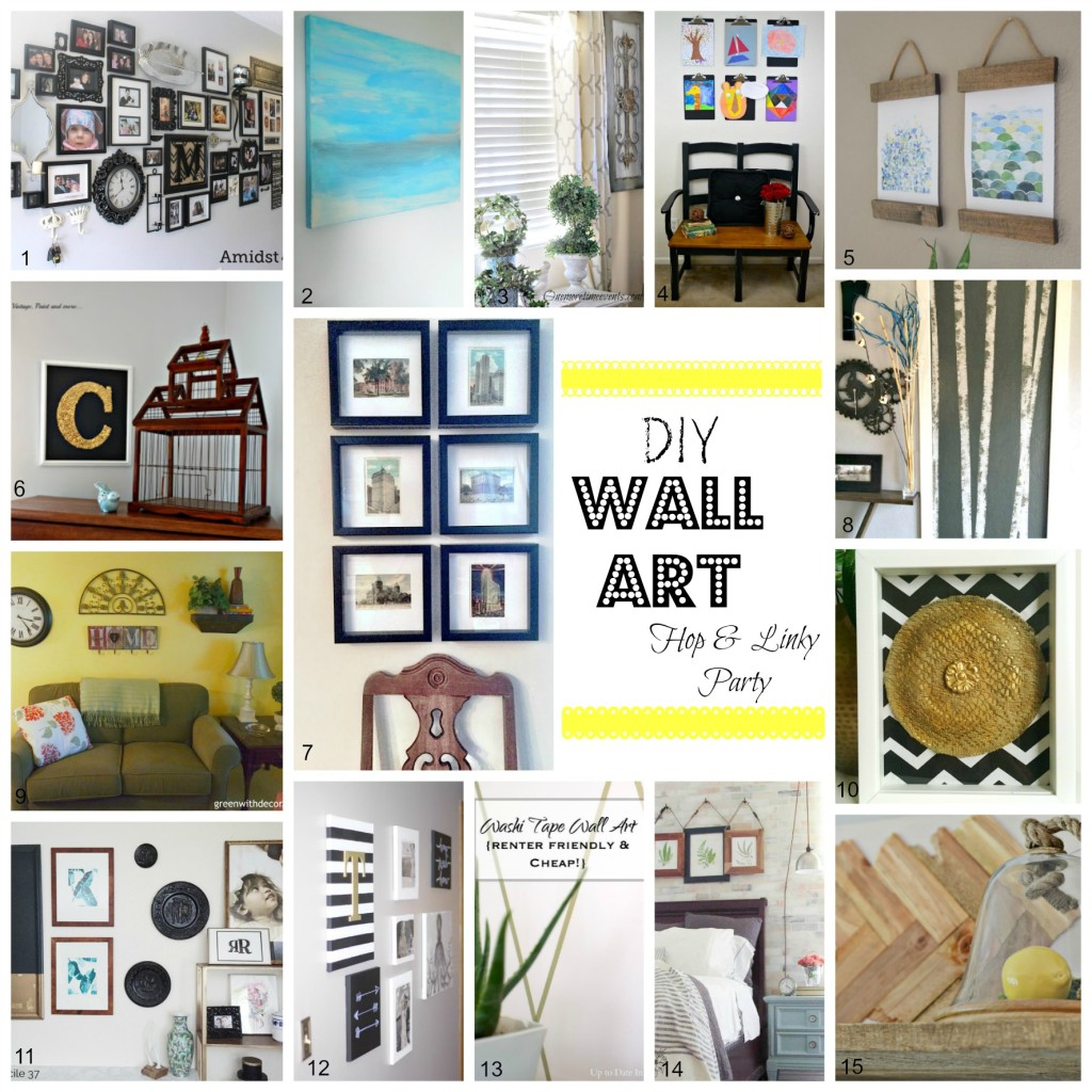 DIY Wall Art Hop and Linky Party with thehousedownthelane.com.
