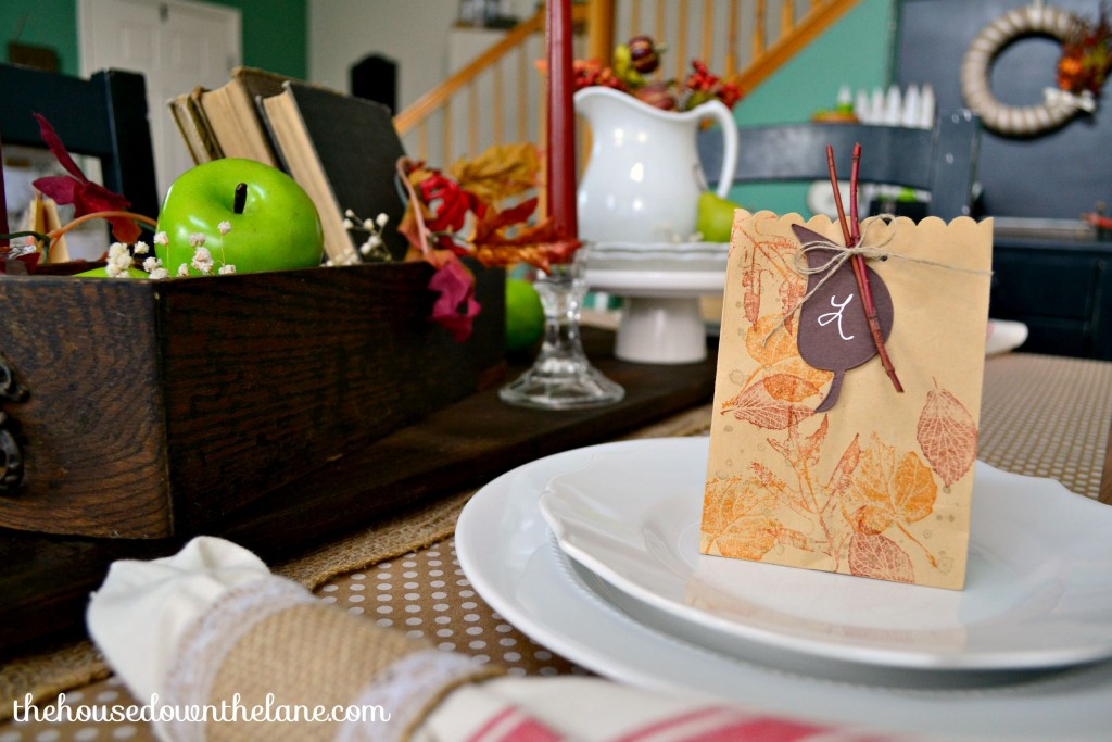 Fall Tablescape and DIY Favors | The House Down the Lane