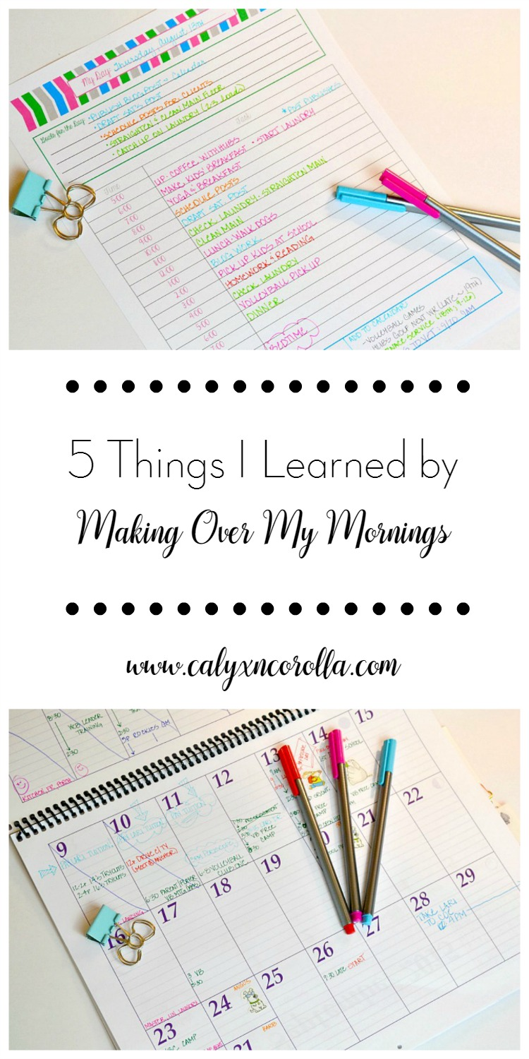 Money Saving Mom's Make Over Your Mornings class isn't about getting up earlier. And it can change so much more than your morning for the better! Here are the 5 Things I Learned by Making Over My Mornings | Calyx and Corolla