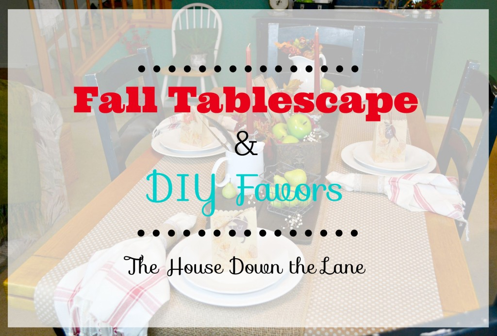 Seven bloggers share some fall fun in this month's Create & Share: Fall Tablescape & DIY Favors | The House Down the Lane