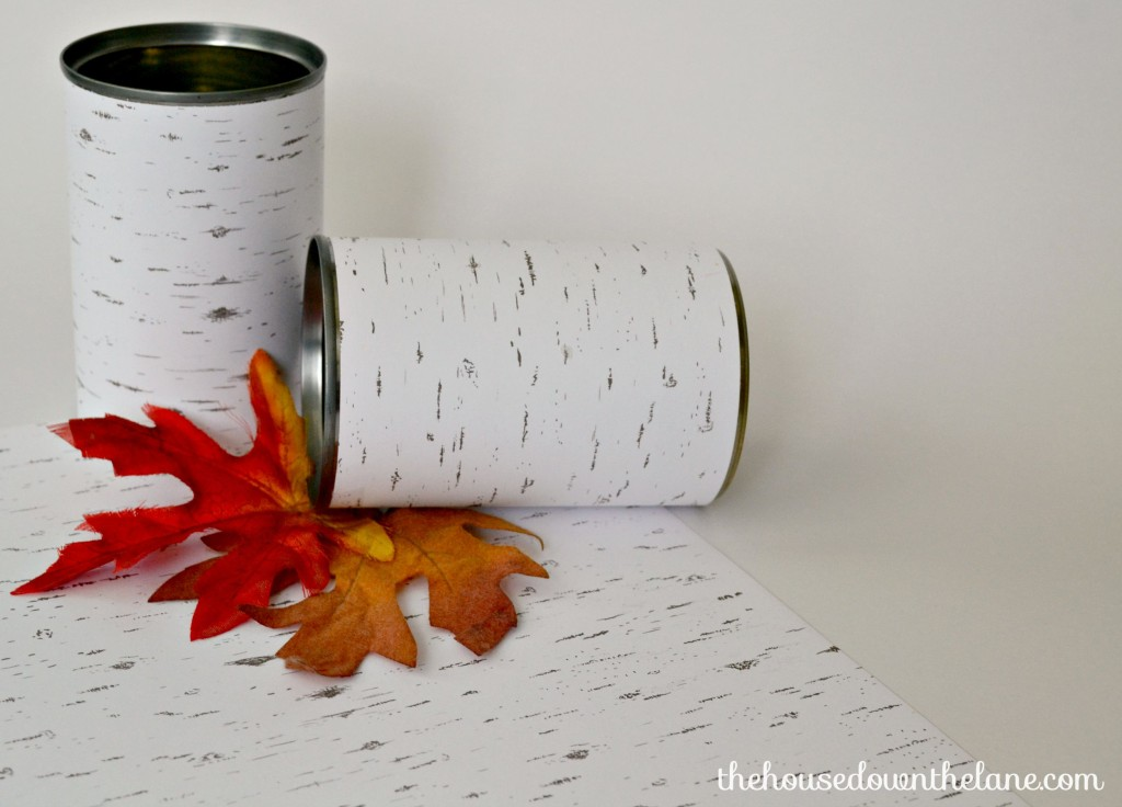Want a quick, easy, and FREE project to add to your fall decor? I give you Trash to Treasure: Rustic Tin Can Candle Holders! It's likely you have everything you need to make these on hand, so you can jump right in and get your craft on! | The House Down the Lane