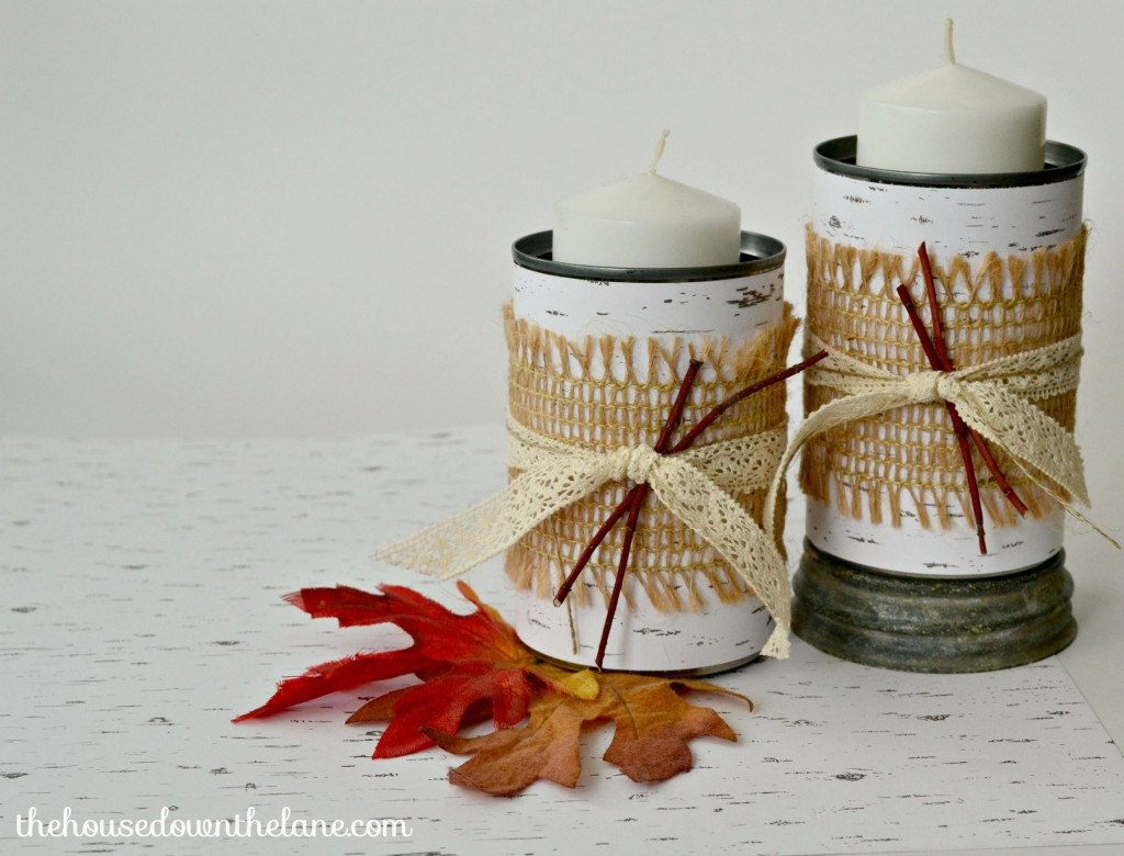Rustic Tin Can Candle Holders