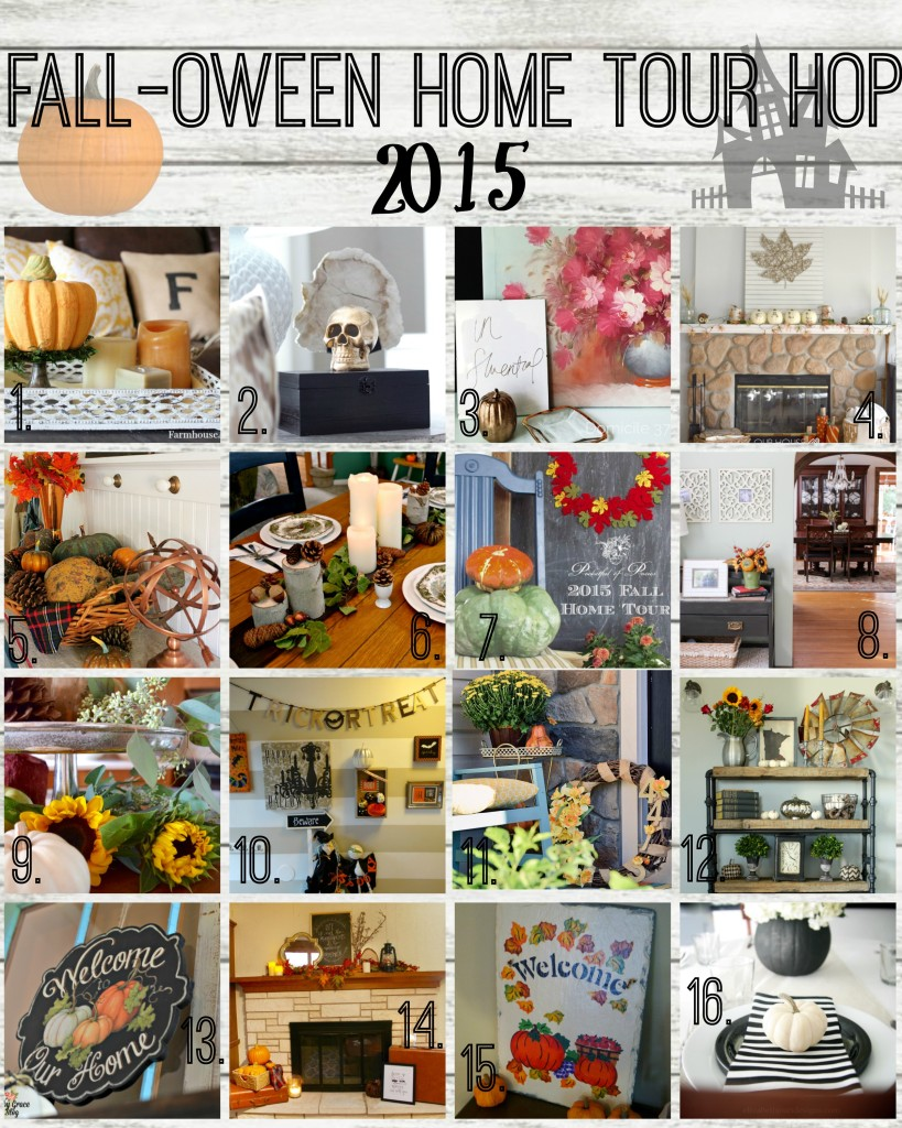 I love decorating with natural elements! Plus, they're often readily available and inexpensive. If you're looking to add a seasonal feel to your home, I have a little inspiration for you! Welcome to my home and my Fall Home Tour with Natural Accents! And the Fall-oween Home Tour Hop! | The House Down the Lane