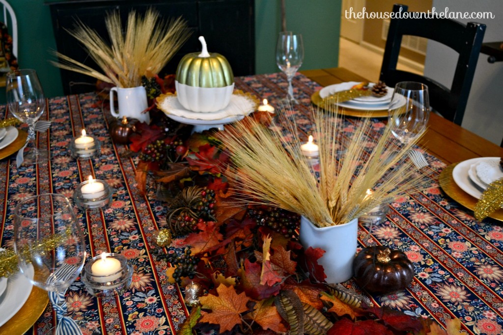 I stepped outside of my usual style aesthetic for this Crete & Share Challenge and designed a Thanksgiving Tablescape with DIY Chair Ties! | The House Down the Lane