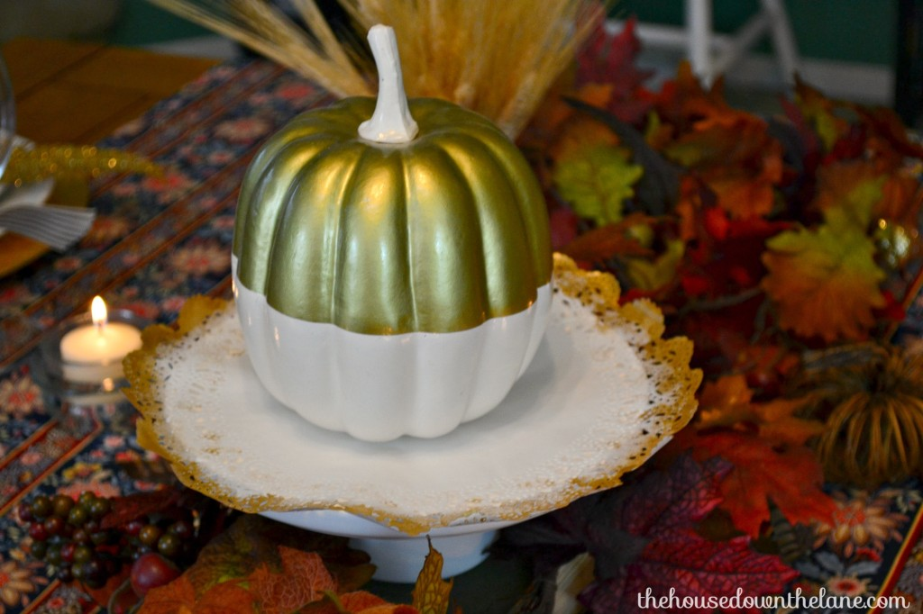 I stepped outside of my usual style aesthetic for this Crete & Share Challenge and designed a Thanksgiving Tablescape with DIY Chair Ties!   The House Down the Lane
