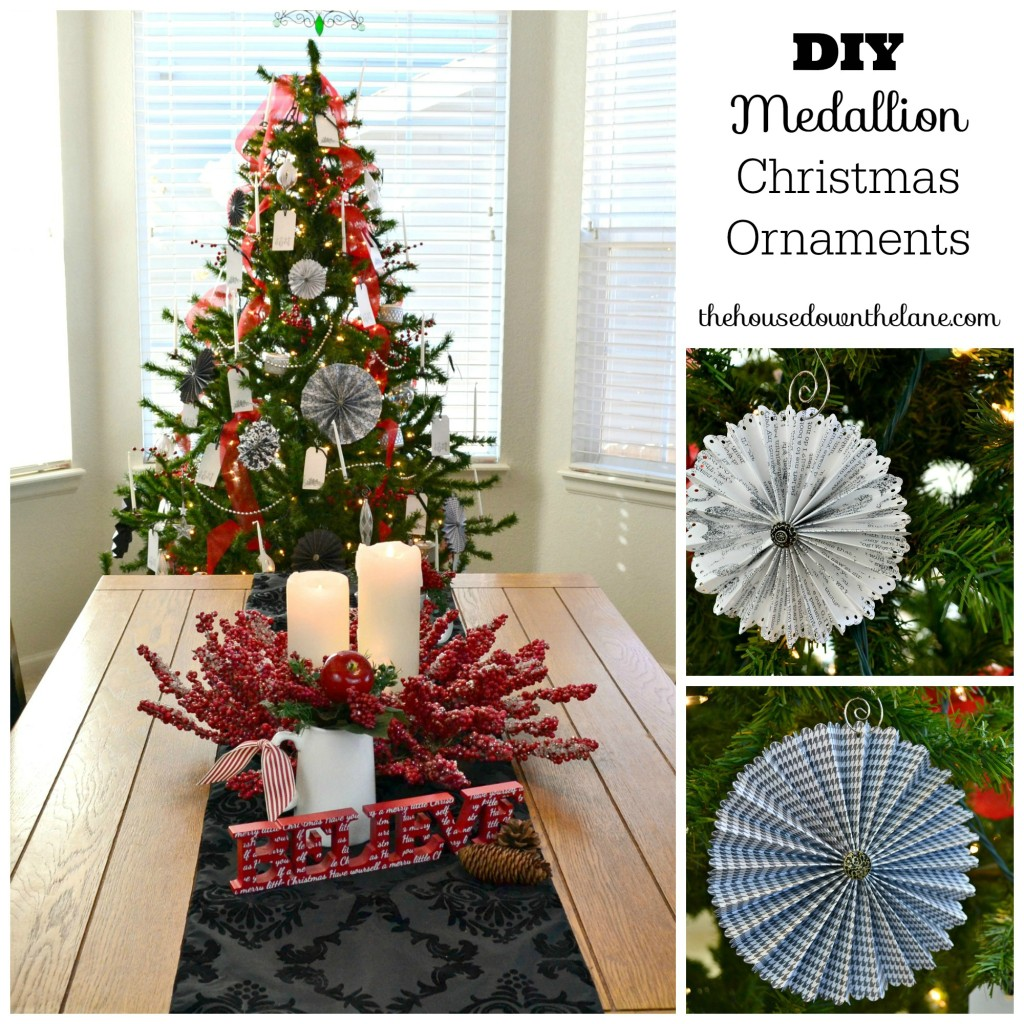 Diy Medallion Christmas Ornaments Calyx Corolla