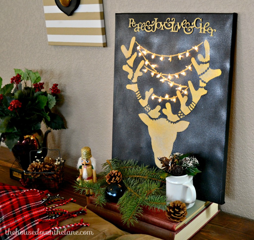 Wall Art With Lights create & share holiday stenciled craft: reindeer wall art with