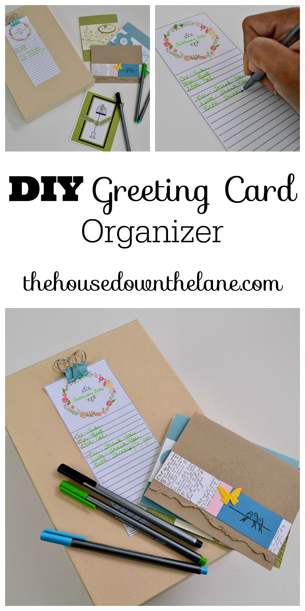 Diy greeting card organizer calyx corolla learn how to make a diy greeting card organizer and why handwriting letters is so important m4hsunfo