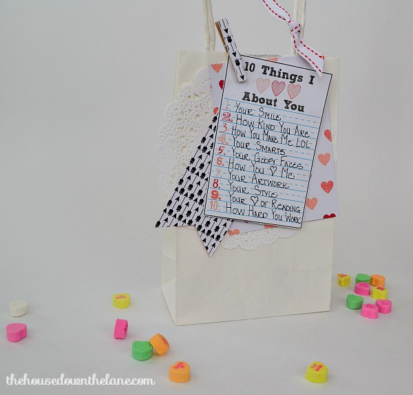 Personalized Valentine's Gift Bag | The House Down the Lane