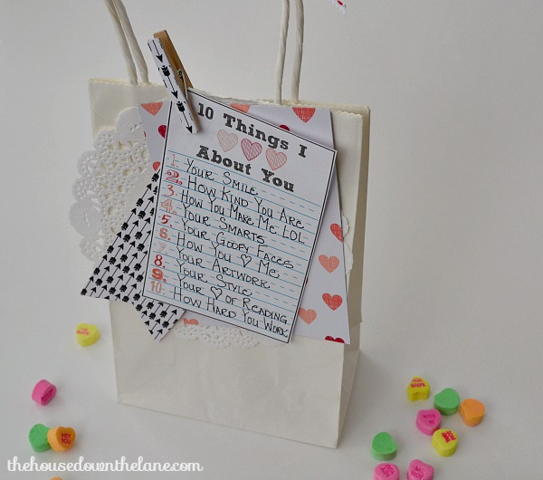 DIY Personalized Valentine's Gift Bag in Less Than 30 Minutes!   The House Down the Lane
