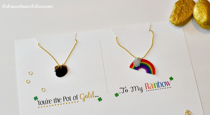 """You're the Pot of Gold to My Rainbow"" Friendship Necklaces"
