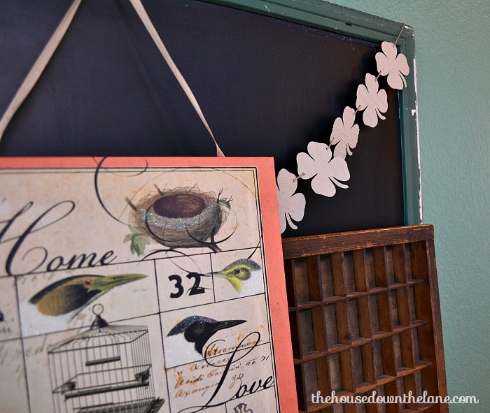 DIY Rustic Shamrock Garland | The House Down the Lane