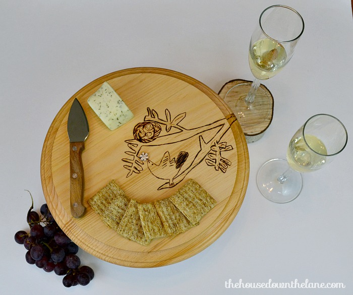Kid's Art Cheese Tray: March Create & Share Challenge | The House Down the Lane