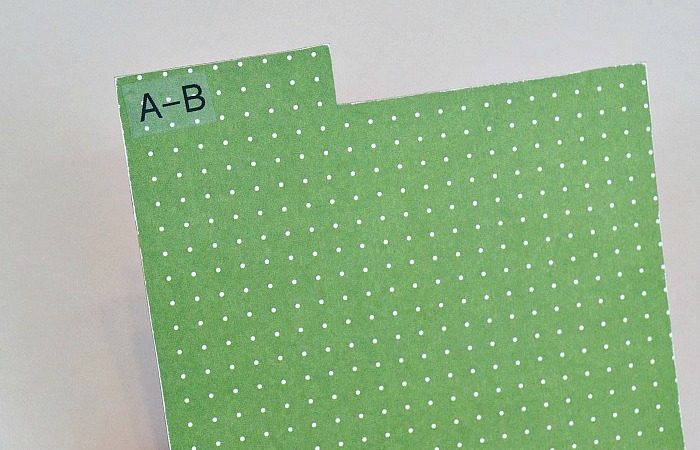 How to Make DIY Tab Dividers