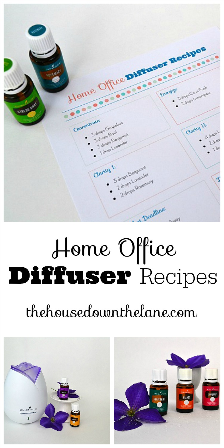 Essential Oil Diffuser Recipes for Use in Your Home Office | The House Down the Lane