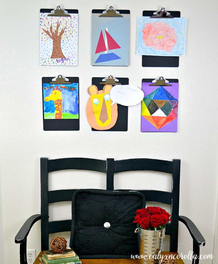 How to create a kids' art gallery in an afternoon! | Calyx and Corolla