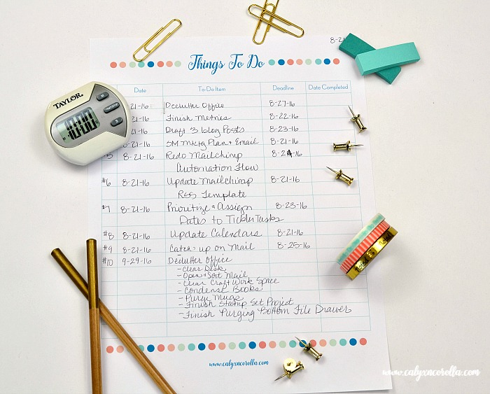 How to Write a Better To-Do List & Actually Get Your To-Dos Done! | Calyx and Corolla