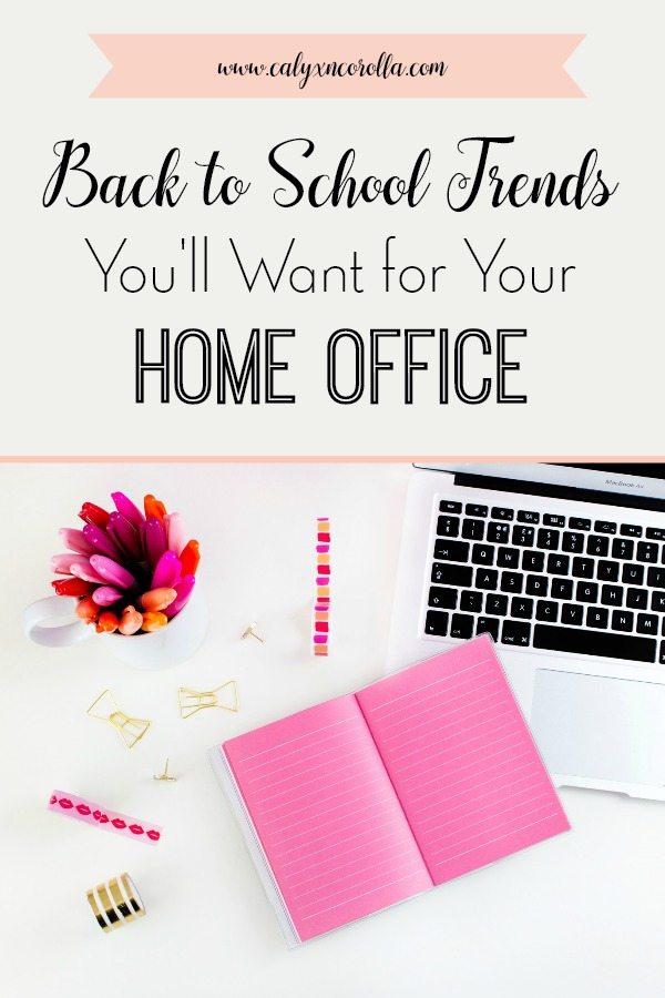 Back to School time is here, and there are a few trends that are causing a kid-sized frenzy. But those frenzy-inducing items aren't just for the classroom or the locker. There are several hot back to school trends you'll want for your home office! It's my favorite time of year to snag the must have cute and cool back to school supplies to use in my home office. Don't miss the essential back to school supplies and back to school trends you'll want in your home office! #backtoschool #backtoschoolsupplies #officesupplies