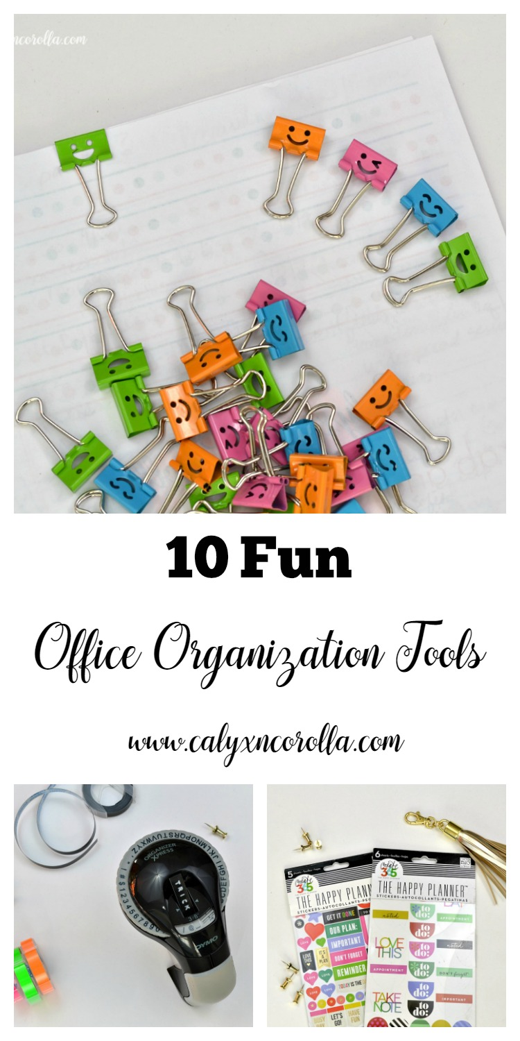 There's almost nothing I love more than a fun and whimsical tool for office organization. I get more organized and enjoy a smile or laugh in the process. Now that's a win-win! Here are my current top 10 fun office organization tools! | Calyx and Corolla
