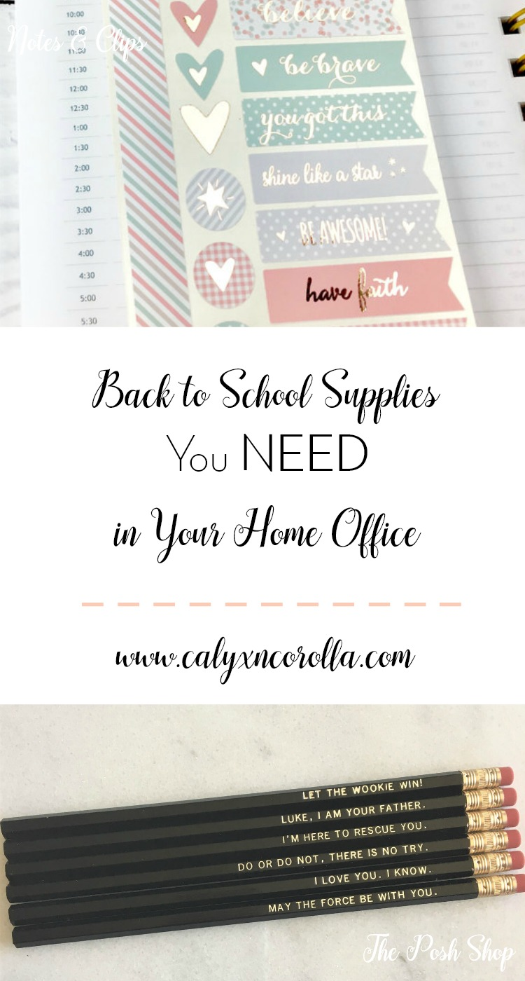 It's back to school time again, but it doesn't have to be ALL about the kids. Here are back to school supplies you need in your home office! | Calyx and Corolla
