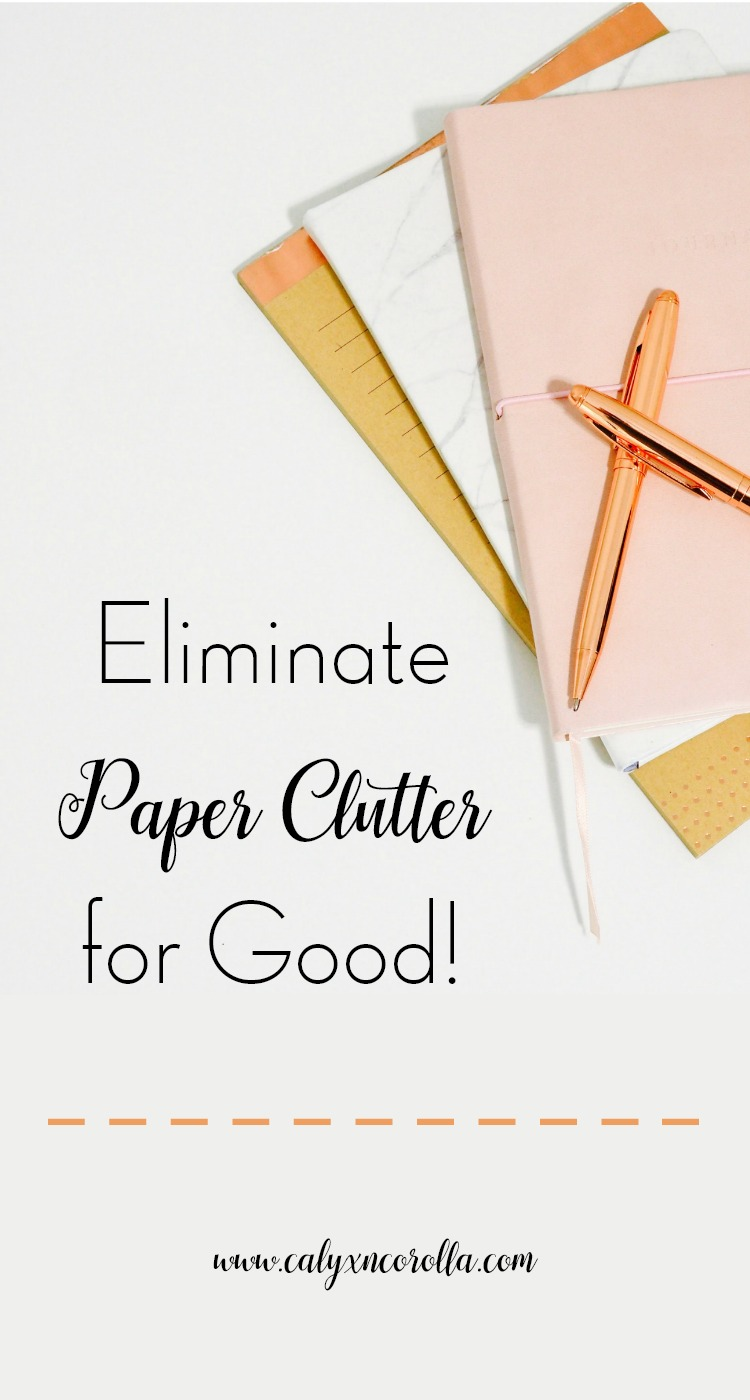 Paper is one of the biggest organization struggles. And when you're working at home and your office is doing double or triple duty, papers can take over your office quickly and ruin your productivity. Eliminate paper clutter for good with just a few basic steps and take your home office and your productivity back! | Calyx and Corolla