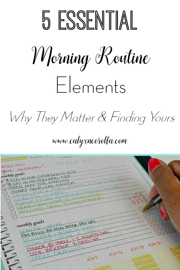 Routines, especially morning routines, are such a struggle for me! But I love the advice in this post about finding the why behind your morning tasks!