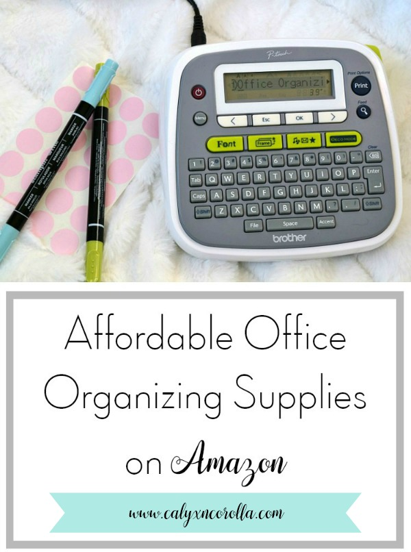 Finding organization supplies for your office doesn't have to take a ton of money, and you don't have to waste hours running all over town. Don't miss this round up of affordable office organizing supplies on Amazon! #organization #homeoffice #officeorganization #declutter #simplify #organized