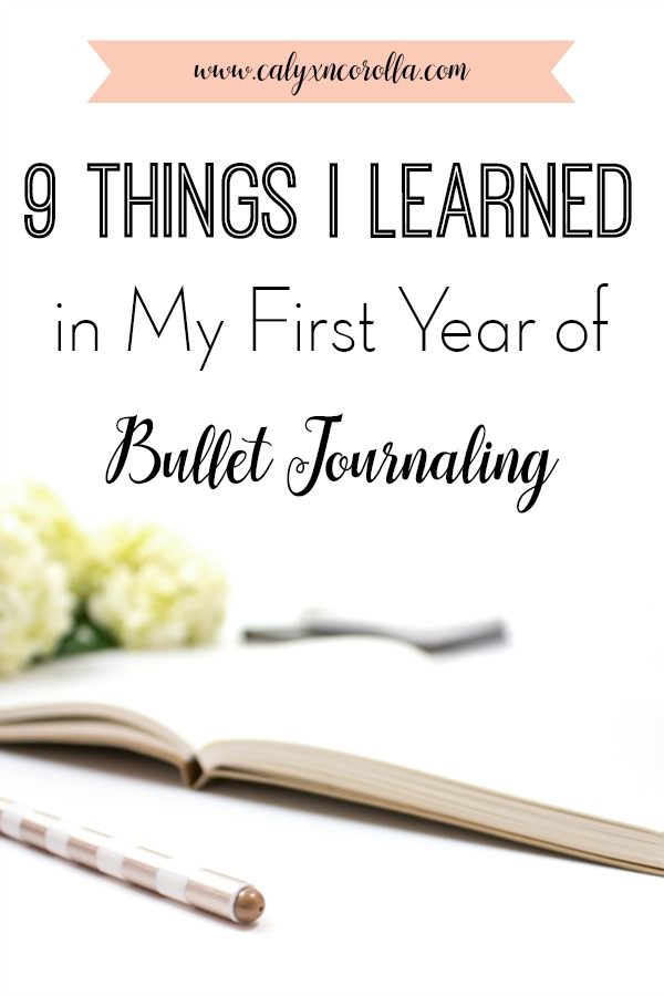 Learning how to start a bullet journal can be overwhelming! From indexes and keys to ideas, layouts, and supplies, there's a lot to take in. So, I'm sharing a few of the the things I learned in my first year of bullet journaling to help you know what to expect, to plan more efficiently, and to enjoy your first step into the amazing world of bujoing! #bulletjournal #bulletjournaling #bulletjournalspreads #bujo #plannerideas #timemanagement #organization