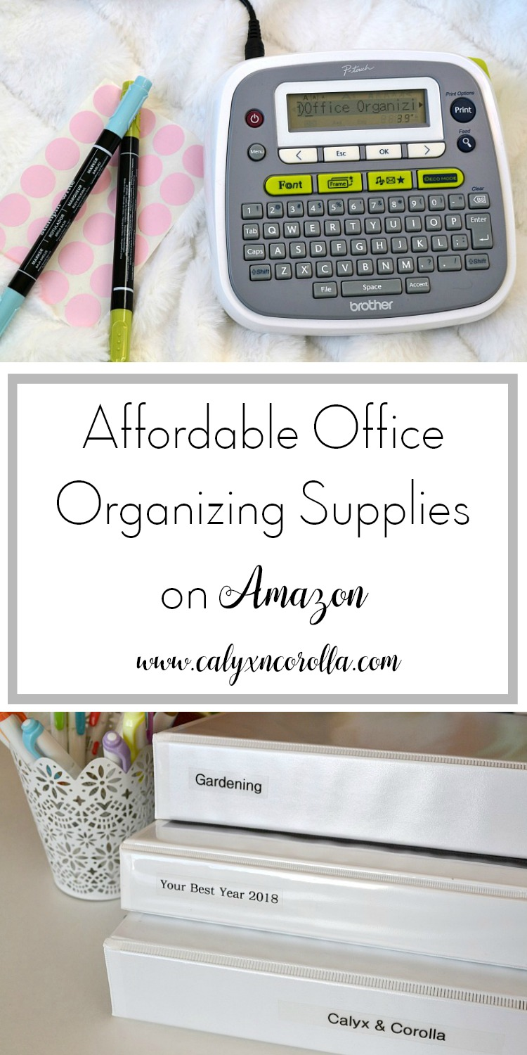 Finding storage for your home office doesn't have to take a ton of money, and you don't have to waste hours running all over town. There are so many versatile and affordable office organizing supplies on Amazon, and all it takes to purchase them is a click of a button. Today I'm sharing a few of my favorite affordable office organizing supplies on Amazon! | Calyx and Corolla