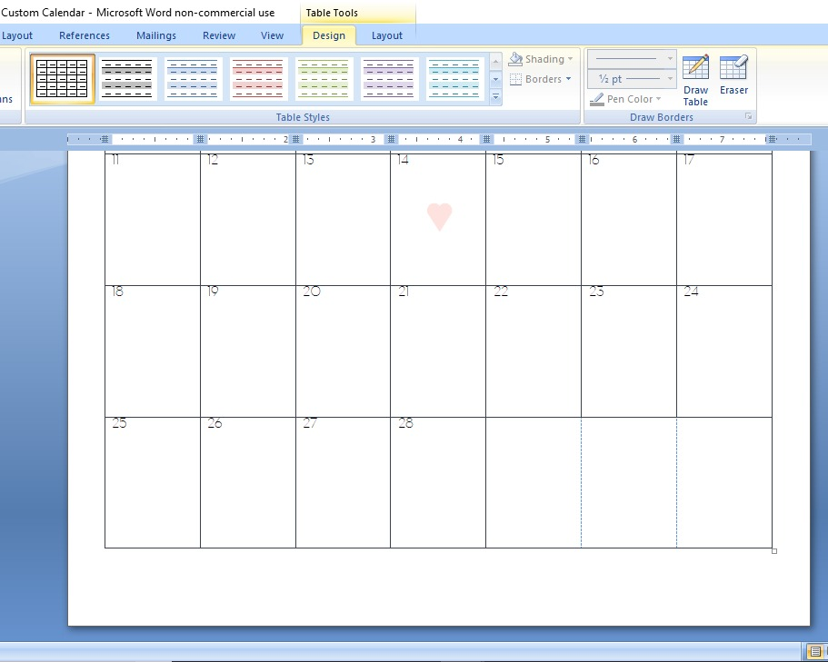 Calendars have helped me to significantly improve my time management and organization. I use them all the time for many different purposes! But sometimes it's difficult to find a calendar that's just right. And more often than not, it's impossible to find the perfect calendar for a specific purpose. So what to do? Design a custom calendar, of course! Here's how to create a custom calendar in Word! | Calyx and Corolla