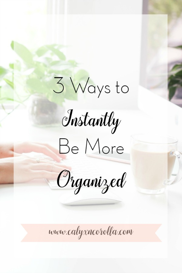 Are you tired of trying to work in a cluttered and messy home office? Are you frustrated with your lack of productivity? There are a few simple ways you can instantly be more organized. By following these tips you can learn how to be more organized, get rid of clutter, and improve your time management and productivity. Don't miss these ideas for being more organized at work and at home! #organization #officeorganization #getorganized #DIYorganization #productivity #timemanagement