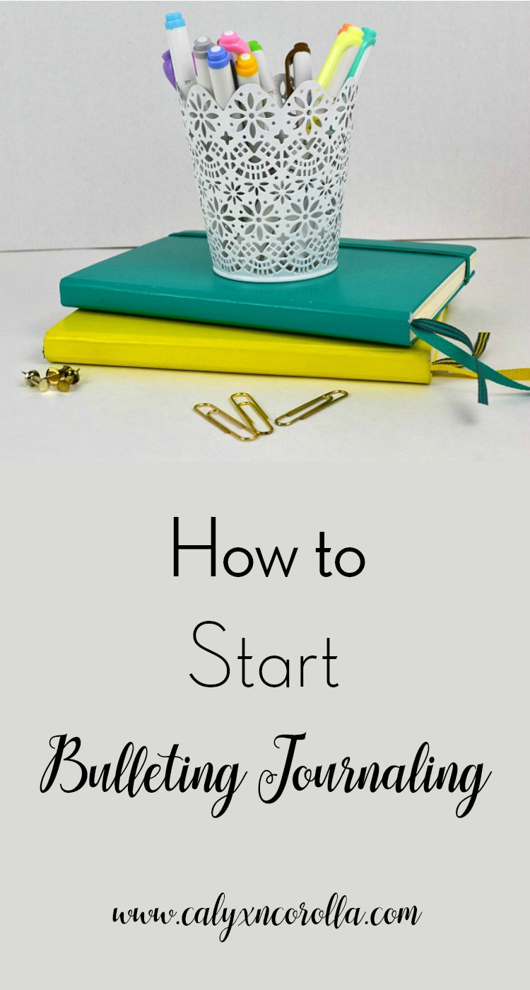 I use bullet journaling everyday to explore my interests, plan my time, and manage my to-dos, but it wasn't easy to just jump in and start. To help you with that first, challenging step, here's what I learned about how to start bullet journaling. | Calyx and Corolla