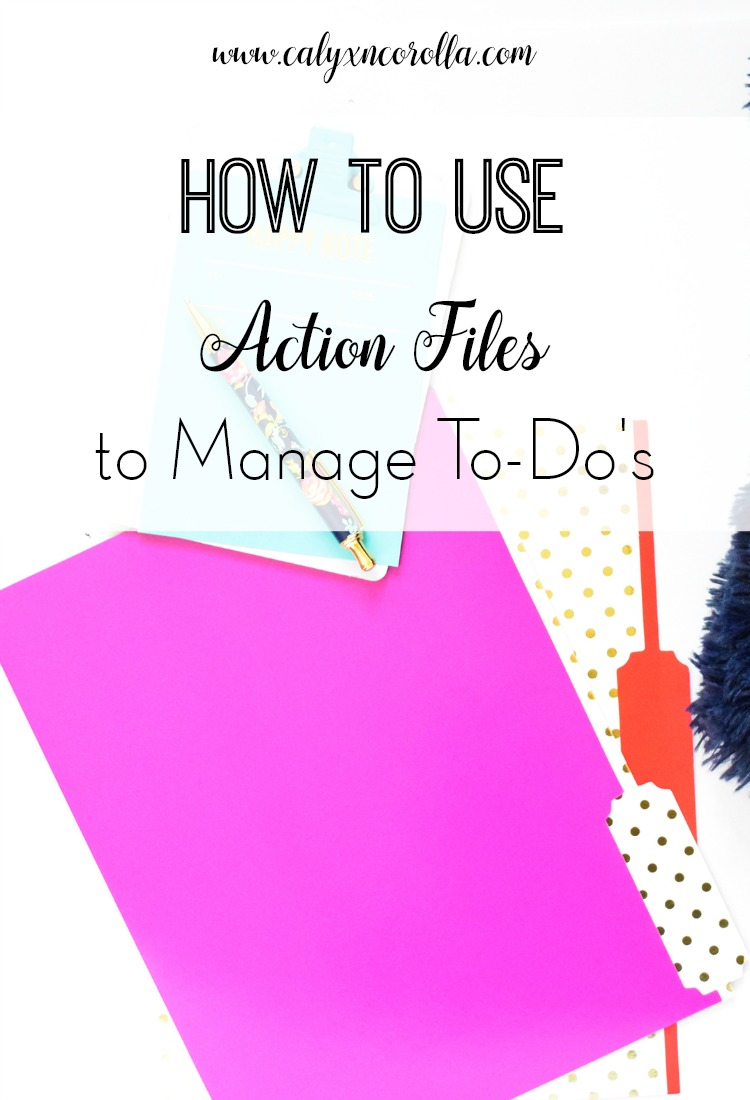 Managing our to-do's and projects and the plethora of items associated with them is a challenging task. But there's a simple, versatile solution that will work with any home business. Today, I'm showing you how to use action files to manage to-do's! | Calyx and Corolla