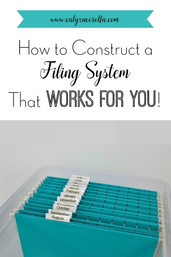 Creating an easy to use filing system for organizing business paperwork is a challenging task. It all comes down to categories! Don't miss these tricks for how to construct a filing system that works for you! #organization #businessorganization #paperclutter #workingfromhome #officeorganization