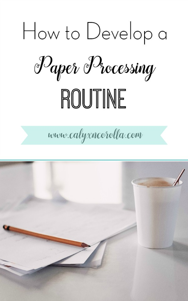 Developing a regular paper processing routine is the only way to truly organize your papers and eliminate office paper clutter. You can finally get rid of paper clutter with this system! Don't miss this paper processing routine and my favorite tools for making your paper processing routine easier. #paperclutter #declutter #officeorganization #organize #organization #organizingtips