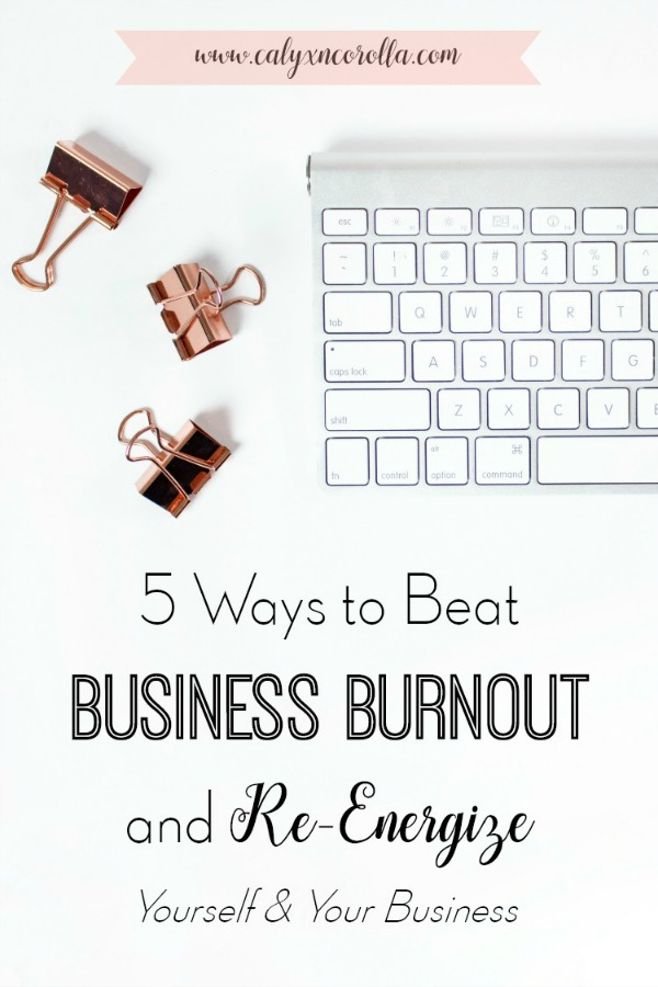 Is your work time feeling stale? Are you bored, uninspired, or unmotivated when it comes to your business? Experiencing burnout happens to all business owners. But instead of letting it linger, there are a few simple things you can do to overcome burnout and get motivated and inspired. Don't miss these 5 ways to beat business burnout and re-energize yourself and your business! #officeorganization #timemanagement #productivity #businesstips #organization #businessinspiration #businessmotivation
