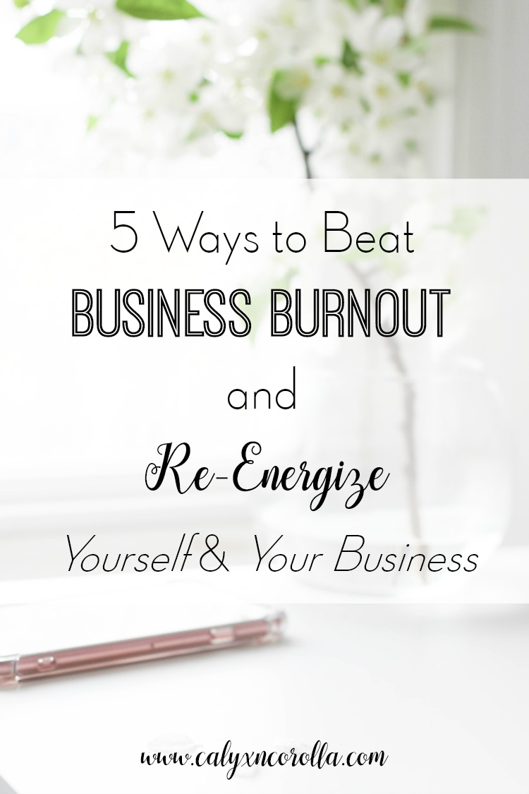 Is your work time feeling stale? Are you bored, uninspired, or unmotivated when it comes to your business? Experiencing burnout happens to all business owners at one time or another. But instead of letting it linger and creating more stress, there are a few simple things you can do. Don't miss these 5 ways to beat business burnout and re-energize yourself and your business! #homeoffice #officeorganization #timemanagement #productivity #businesstips