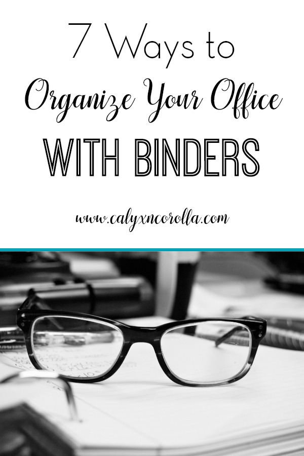 Three-ring binders are an inexpensive and versatile tool for office organization. Don't miss these 7 Ways to Organize Your Office with Binders along with a few of my favorite tips and accessories! #officeorganization #homeoffice #organization #officesupplies