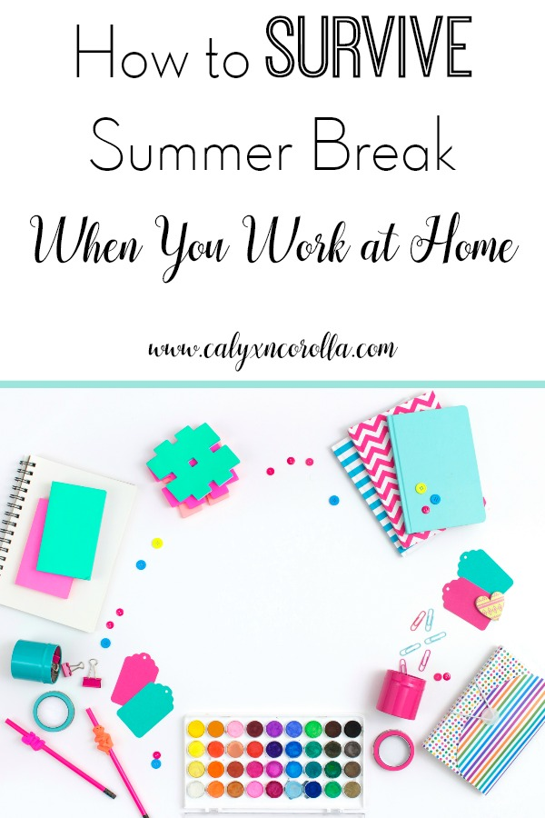 It's hard enough to work at home when your kids are in school, but it's a huge struggle to get any work done during summer break with kids. Don't miss these tips that will help you survive summer break when you work at home. These ideas will help you to maintain your sanity, continue to grow your business, and enjoy some much-needed family fun time this summer! #wahm #workathome #summer #timemanagement #productivity #parenting #summerbreak