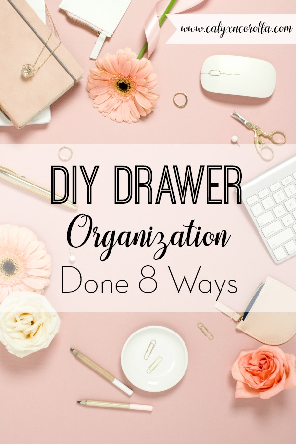 Drawers come in all shapes and sizes, which can be great for storage. But it's not so great when it comes to actually organizing your office drawers. To help you make the most of your desk drawer storage space (without the headache), I'm sharing 8 of my favorite DIY drawer organization tutorials and tips! #organization #DIYorganization #drawerorganization #organizedoffice #getorganized #officeorganization