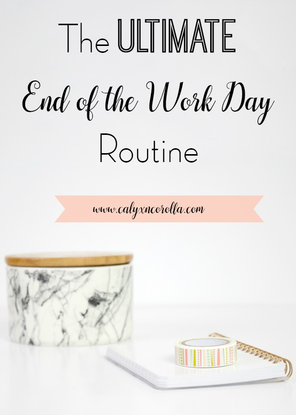Transitioning from work to home is always hard, but it's especially challenging when you work at home. Today I'm taking you through each step in my end of the work day routine and sharing why each step is important and how it helps you! #timemanagement #productivity #routines #businessroutines #workfromhome