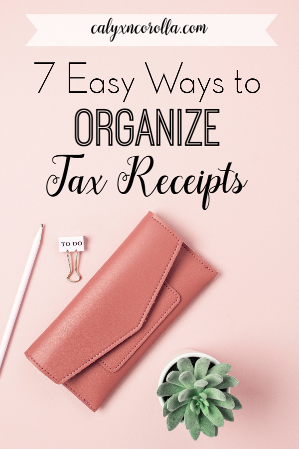 Finding easy ways to organize tax receipts for your small business doesn't have to be challenging. Take the overwhelm out of tax time with these simple tips and easy-to-implement ideas for tax receipt organization. You might also nix some of the paper piles in your home office in the process! #taxtime #taxes #taxseason #bookkeeping #organization #paperclutter #businessorganization