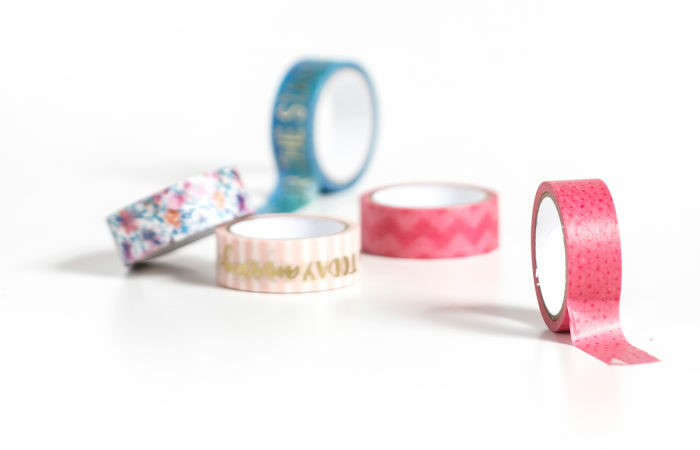 Personalize Boring Office Supplies with Washi Tape